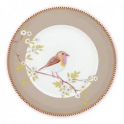 Assiette à dessert - Oiseau kaki  - Pip Studio - 21 cm