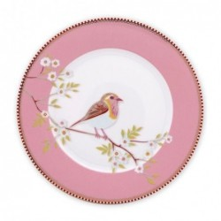 Assiette à dessert - Oiseau rose  - Pip Studio - 21 cm