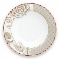 Pip Studio - Assiette creuse Spring to life - 22 cm - Crème