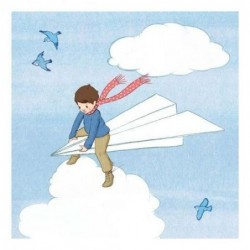 Sérigraphie - Belle and Boo - My paper plane