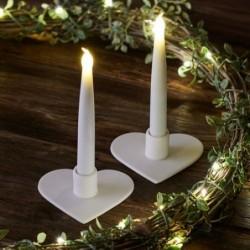 Bougie LED & bougeoir- Sirius - Olina - Set de 2 - Coeur