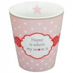 Mug - Krasilnikoff - Rose à coeur Home is where my mum is