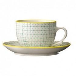 Tasse et soucoupe Pattern - Bloomingville - Vert