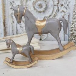Cheval à bascule décoratif - Chic Antique - Gris