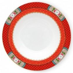 Assiette creuse - Blushing Birds - Rouge - Pip Studio - 21.5 cm