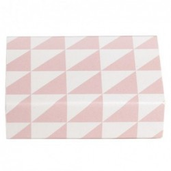 Petite boite d'allumettes - Krima et Isa - triangles pink