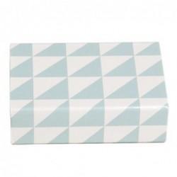 Petite boite d'allumettes - Krima et Isa - triangles turquoise