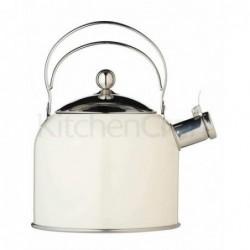 Bouilloire vintage chic - sifflante - 2.3 L - crème