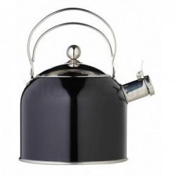 Bouilloire vintage chic - sifflante - 2.3 L - noire