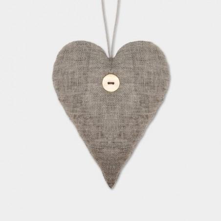 Coeur en tissu - East of India - Ligth grey