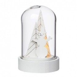 Cloche en verre lumineuse - Rader - Bonhomme de neige