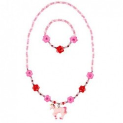 Collier et bracelet - Souza - Angel - Fuchsia
