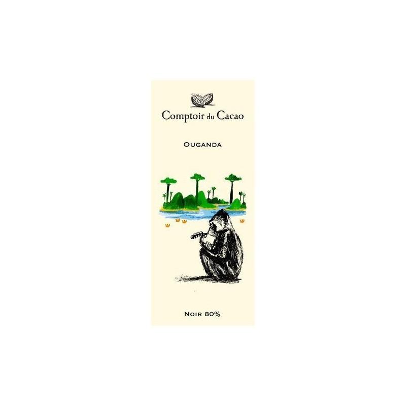 Tablette de chocolat - Route des origines - Noir 80 % - Ouganda - 80g