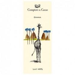 Tablette de chocolat - Route des origines - Lait 40 % - Ghana - 80g