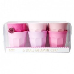 6 Gobelets Mélamine - Rice - 50 Shades of pink - 7X7cm