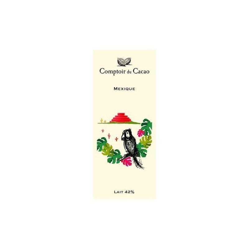 Tablette de chocolat - Route des origines - Lait 42 % - Mexique - 80g