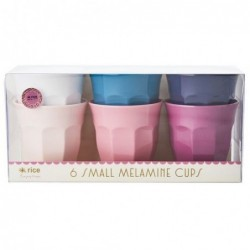 6 Gobelets Mélamine - Rice - Simply yes colors - 7X7