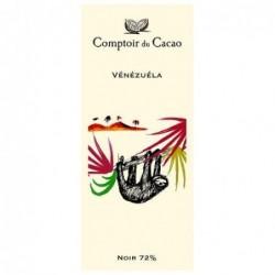 Tablette de chocolat - Route des origines - Noir 72 % - Vénézuéla - 80g