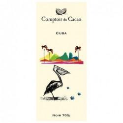 Tablette de chocolat - Route des origines - Noir 70 % - Cuba - 80g