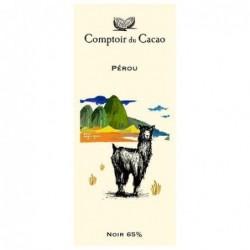 Tablette de chocolat - Route des origines - Noir 65 % - Pérou - 80g
