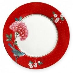Assiette à dessert - Blushing Birds - Rouge - Pip Studio - 21 cm