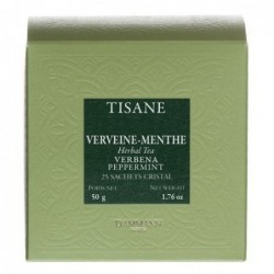 Tisane Verveine Menthe - Dammann Frères - 25 sachets Cristal®