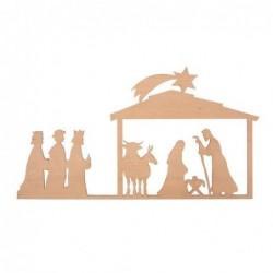 Décoration Nativité - Plaque de bois - Rader - S
