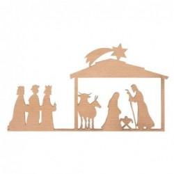 Décoration Nativité - Plaque de bois - Rader