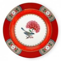 Assiette à dessert - Blushing Birds - Rouge - Pip Studio - 17 cm