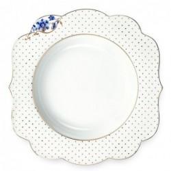 Assiette à soupe Royal White décorée - Pip Studio - 23