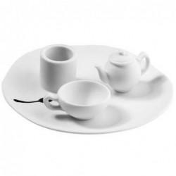 Bougeoir - Histoires de porcelaine - La théière et la tasse - Rader