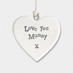Cœur en porcelaine - East of India - Love you mummy