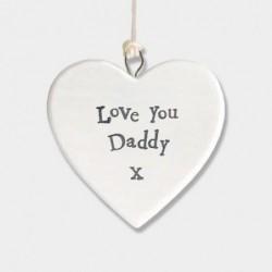 Cœur en porcelaine - East of India - Love you daddy