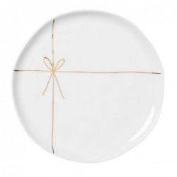 Assiette à gâteau - Rader - ruban doré