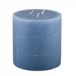Bougie Broste Copenhagen - Bleu nordique - rustique 3 mèches - 13x13cm
