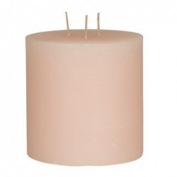 Bougie Broste Copenhagen - Soft rose - rustique 3 mèches - 13x13cm