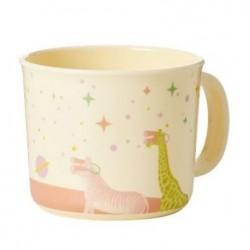 Tasse enfant à anse - Mélamine - Rice - Universe soft pink