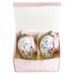 Set de 2 œufs en porcelaine - Greengate - Maude white