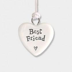 Cœur miniature en porcelaine - East of India - Best friend