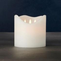 Bougie LED - Sirius - Sara Exclusive White - 3 flammes - 15 cm