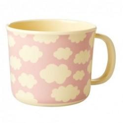 Tasse enfant à anse - Mélamine - Rice - Cloud Pink