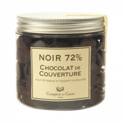 Chocolat de couverture - Noir 72 % - 400g