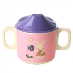 Tasse enfants à bec - Mélamine - Rice - Pink Bunny