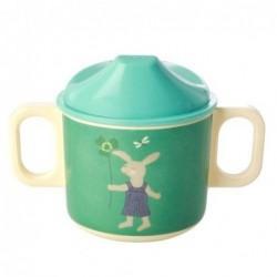 Tasse enfants à bec - Mélamine - Rice - Green Bunny