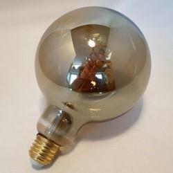 Ampoule LED vintage - Country Casa - Sphérique - Anthracite