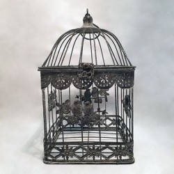 Cage décorative - Country casa - Birds and flowers - S