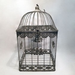 Cage décorative - Country casa - Birds and flowers - L
