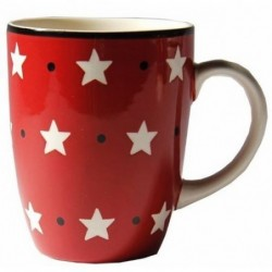 Mug rouge à étoiles - Déjeuner sur l'herbe - 30 cl
