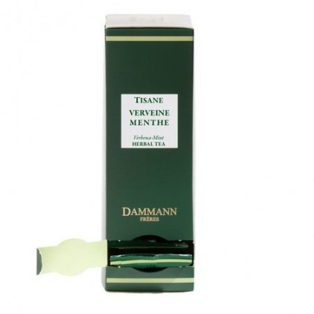 Boite 24 sachets Cristal - Dammann Frères - Tisane Verveine menthe