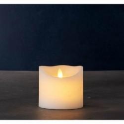 Bougie LED - Sirius - Sara blanche 10.5 cm
